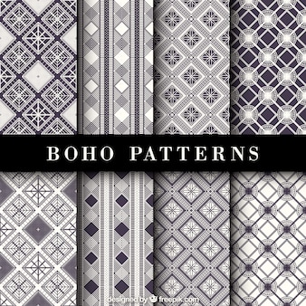 Fantastic ethnic patterns with geometric decoration