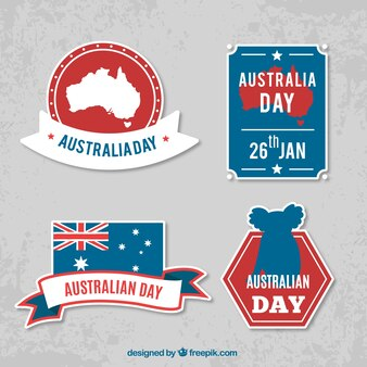 Fantastic flat stickers for australia day