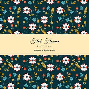 Fantastic floral pattern in flat design