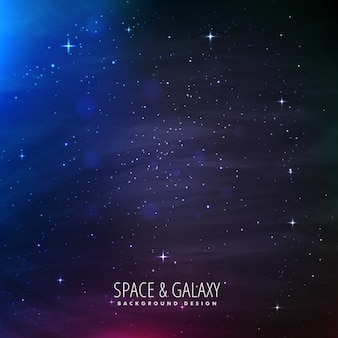 Fantastic galaxy background with blue lights