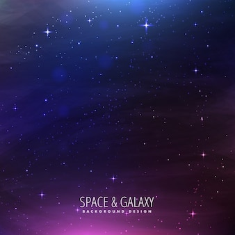 Fantastic galaxy background with purple lights