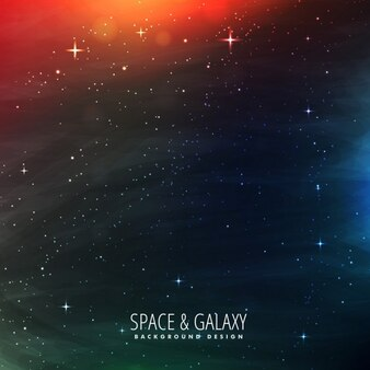 Fantastic galaxy background with red lights