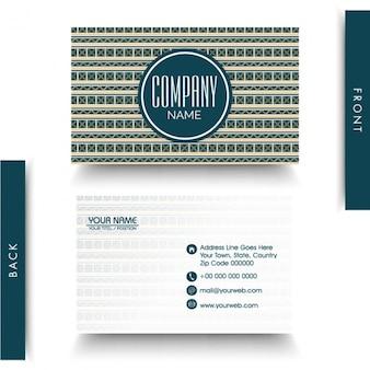 Fantastic geometric business card