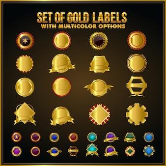 Fantastic golden badges