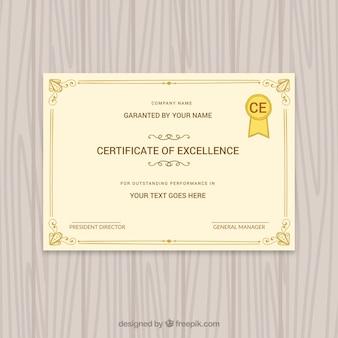 Fantastic graduation certificate with ornaments