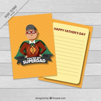 Fantastic greeting card with super dad