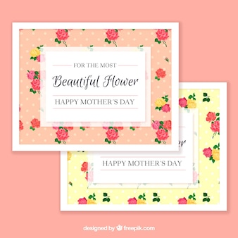 Fantastic greeting cards with flowers for mother's day