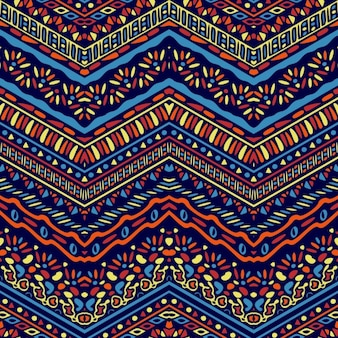 Fantastic hand drawn ethnic pattern