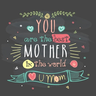 Fantastic lettering background for mother's day