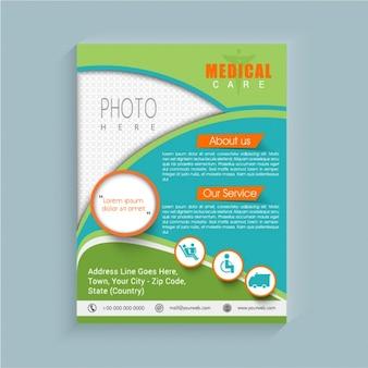 Fantastic medical brochure with orange details