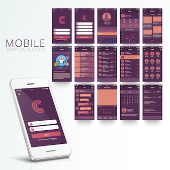 Fantastic mobile app with purple background