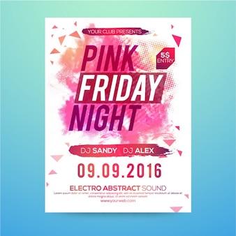 Fantastic party brochure in pink tones