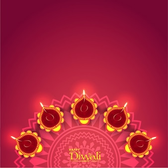Fantastic purple background for diwali