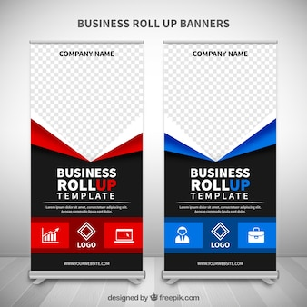 Fantastic roll ups with blue and red details