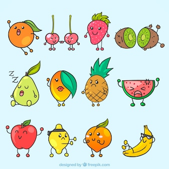 Fantastic selection of expressive fruit characters