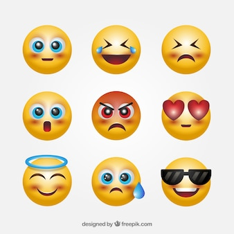 Fantastic set of 3d emoticons