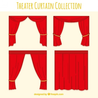 Fantastic set of red theater curtains