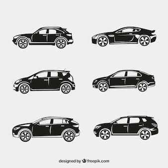 Fantastic silhouettes of cars