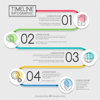 Fantastic timeline infographic with icons
