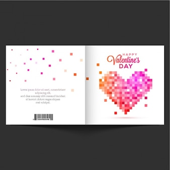 Fantastic valentine's card with pixelated heart