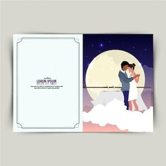 ロマンチックなカップルダンスとファンタスティックバレンタインカード