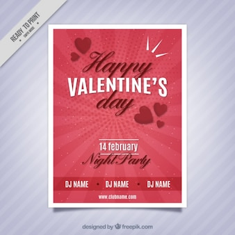 Fantastic valentine's party poster with dots