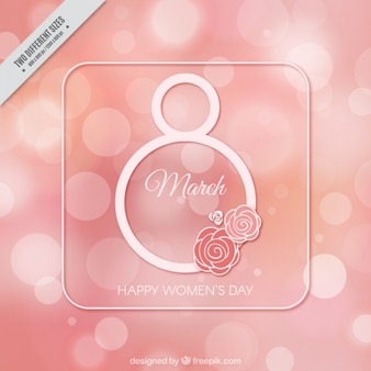 Fantastic women's day background with bokeh effect
