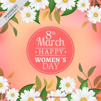 Fantastic women's day background with realistic daisies