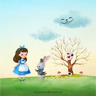 Fantasy story Alice in Wonderland