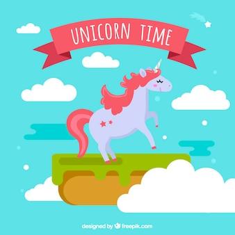 Fantasy unicorn in the sky