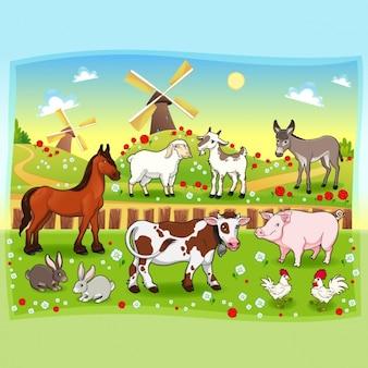 Farm background design