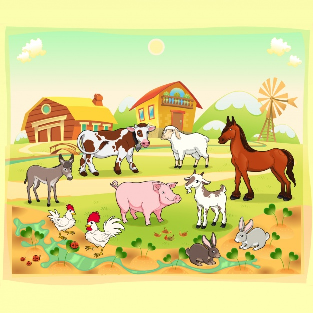 Farm background design