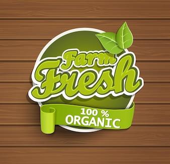 Farm fresh label.