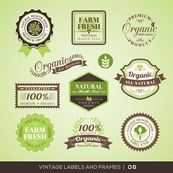 Farm product logos collection