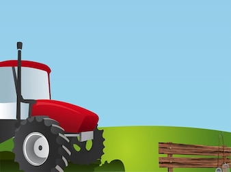 Farming field machine tractor vector