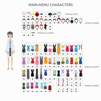 Fashion characters collection