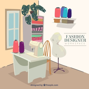 Fashion designer workspace