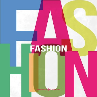 Fashion lettering background