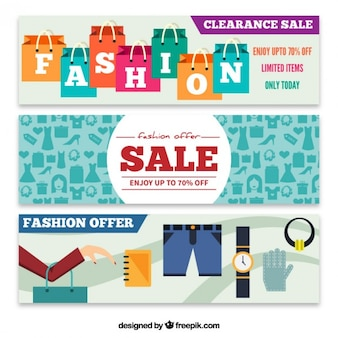 Fashion offer banners