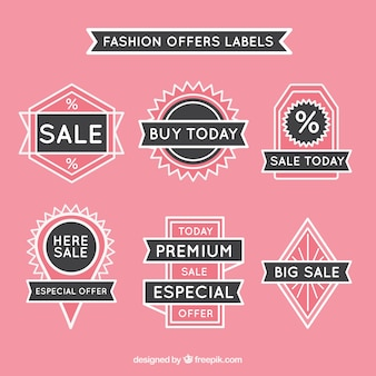 Fashion offer labels