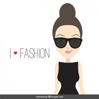 Fashionable woman character