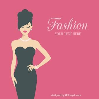 Fashionable woman template