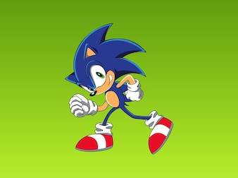 Fast cartoon hedgehog gaming vector