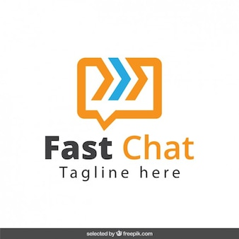 Fast chat logotype