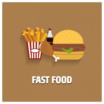 Fast food background design