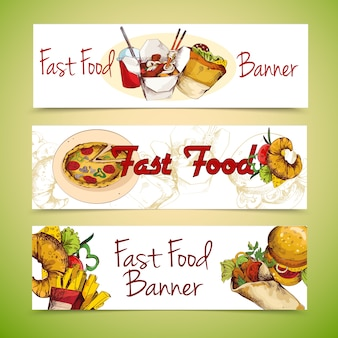 Fast food banners design
