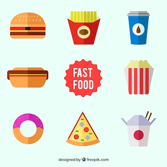 Fast food icons collection