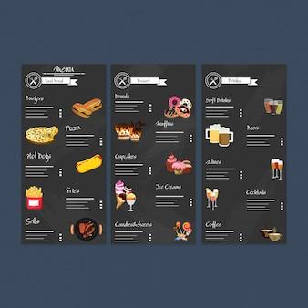 Fastfood restaurant menu card design