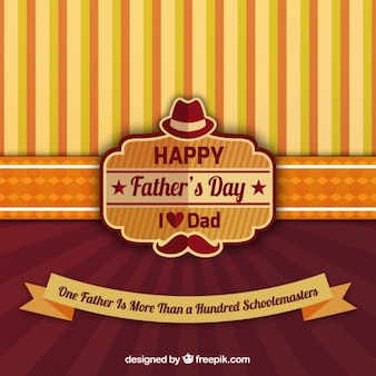 Father's day background in vintage style