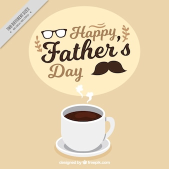 Father's day background with cup of coffee